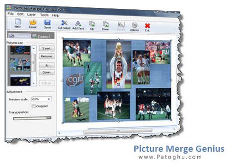 ترکیب کردن تصاویر با نرم افزار Picture Merge Genius v2.8.1