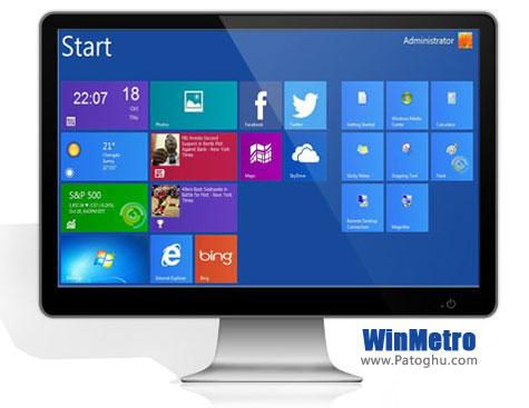 تجربه محیط کاربری ویندوز ۸ با نرم افزار WinMetro 1.0 Beta