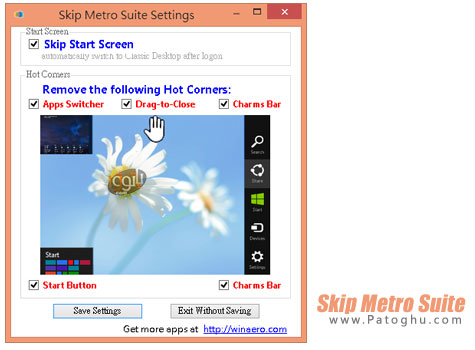 ورود مستقیم به دسکتاپ ویندوز 8 با نرم افزار Skip Metro Suite v3.0