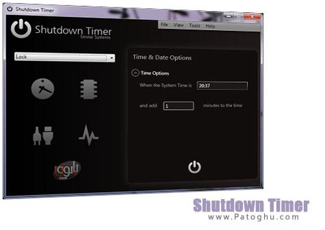 خاموش کردن سیستم بصورت اتوماتیک با نرم افزار - Shutdown Timer 3.3.4