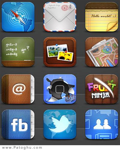 دانلود مجموعه آیکون آیفون - iPhone Icon Collection