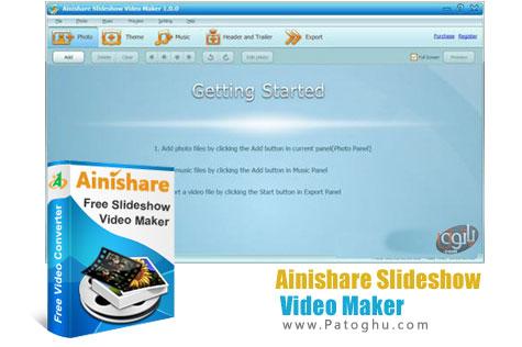 طراحی آسان اسلایدشو های سه بعدی از تصاویر با نرم افزار Ainishare Slideshow Video Maker 1.0.0