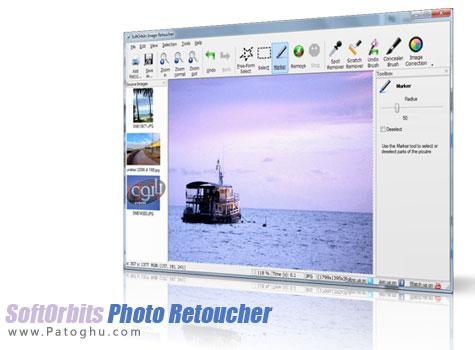 روتوش و از بین بردن قسمتهای اضافی عکس با نرم افزار Photo Retoucher 1.3
