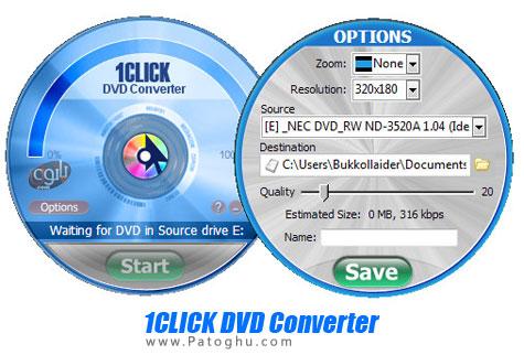 تبدیل فیلم های دی وی دی ( DVD )به فرمت دلخواه تنها با یک کلیک با ۱CLICK DVD Converter v3.0.1.1