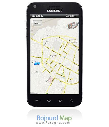 دانلود نقشه بجنورد برای موبایل Bojnurd Map