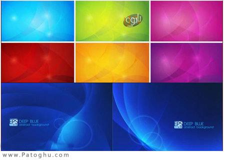 دانلود مجموعه ۳ وکتور زیبا با عنوان Abstract Background Vector