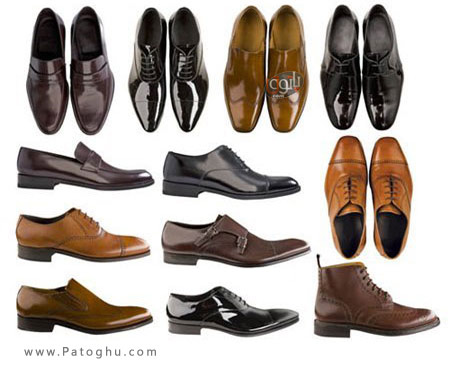 دانلود مجموعه تصاویر استوک از کفش های مردانه - Stylish Mens Shoes  Stock Photo