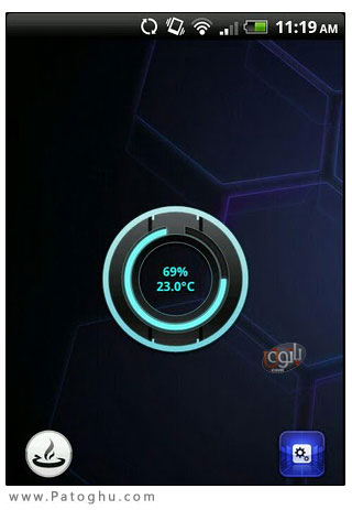 نمایش وضعیت باتری اندروید به شکلی زیبا با نرم افزار - Beautiful Battery Disc 2.0.0