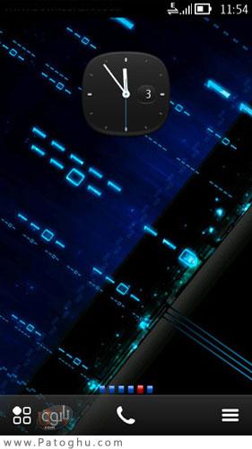 تم بسیار زیبای Evo Blue – نوکیا Symbian^3 و S60v5