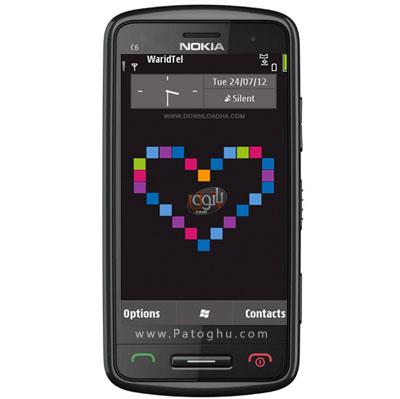 دانلود تم بسیار زیبای Lovely Magneta – نوکیا Symbian^3 و S60v5