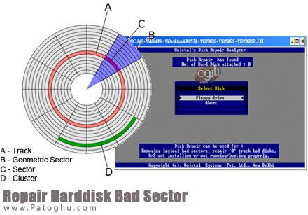 رفع بد سکتور هارد دیسک با نرم افزار Repair Harddisk Bad Sector