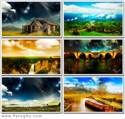 دانلود مجموعه پس زمینه با کیفیت از مناظر Rendering scenery HD Wallpapers