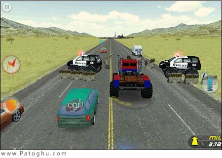 دانلود بازی رانندگی دیوانه وار Crazy Monster Truck Escape 1.0.2 - آندروید