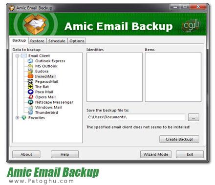 دانلود نرم افزار بک آپ گیری از ایمیل ها Amic Email Backup 3.00