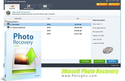 دانلود نرم افزار ریکاوری تصاویر پاک شده Jihosoft Photo Recovery 5.00