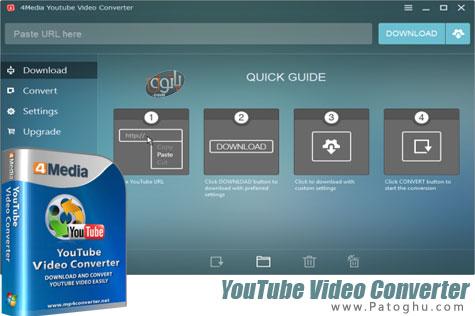 نرم افزار دانلود و تبدیل ویدیوهای یوتیوب 4Media YouTube Video Converter 5.0.5 Build 20131018