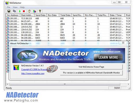 دانلود نرم افزار نظارت بر ترافیک شبکه NADetector 1.5.2