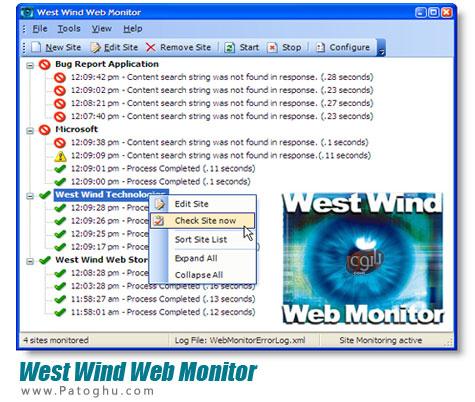 دانلود نرم افزار مانیتورینگ دایمی سایت و وبلاگ شما West Wind Web Monitor 3.45