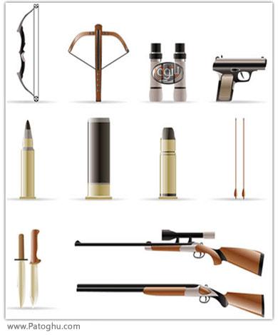 دانلود آیکون های زیبا با موضوع ابزار آلات شکار - Hunting Things Icons