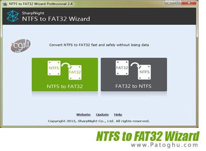 تبدیل پارتیشن های NTFS به FAT32 با نرم افزار NTFS to FAT32 Wizard Pro 2.4