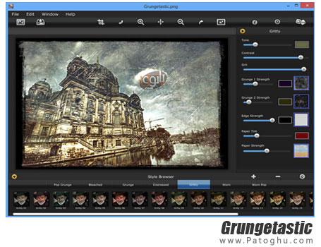 دانلود نرم افزار تبدیل تصاویر به آثار هنری بسیار زیبا Grungetastic v2.50