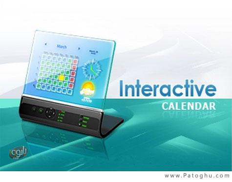 دانلود تقویم رومیزی برای ویندوز Interactive Calendar v1.2.1
