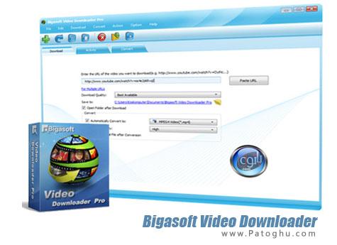 نرم افزار دانلود ویدیوهای آنلاین و تبدیل آنها Bigasoft Video Downloader Pro