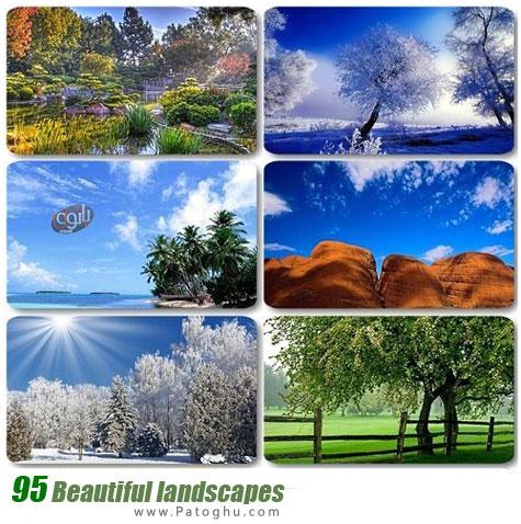 دانلود مجموعه 95 تصویر زیبا از مناظر طبیعی برای پس زمینه دسکتاپ - Beautiful landscapes
