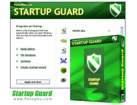 دانلود نرم افزار مدیریت استارت آپ ویندوز Startup Guard Pro 3.51