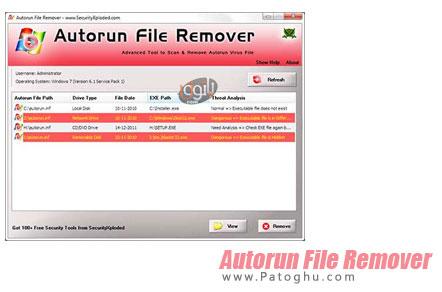 دانلود نرم افزار قدرتمند و عالی برای حذف ویروس اتوران Autorun File Remover v1.5