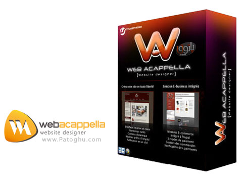دانلود نرم افزار حرفه ای طراحی وب سایت WebAcappella Pro v4.4