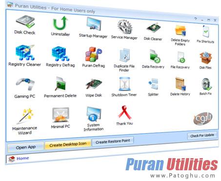 دانلود نرم افزار رایگان و قدرتمند بهینه سازی سیستم Puran Utilities 3.0 Final