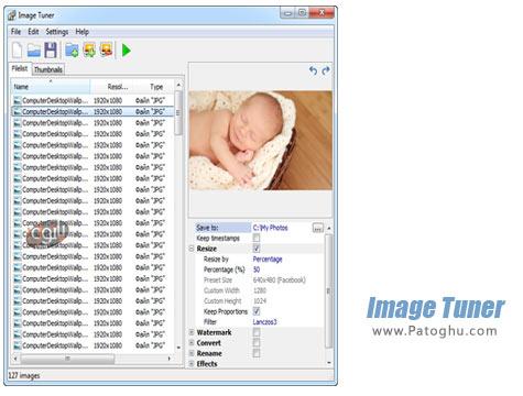 دانلود نرم افزار تغییر اندازه ، فرمت و نام تصاویر به صورت دسته جمعی Image Tuner 4.4