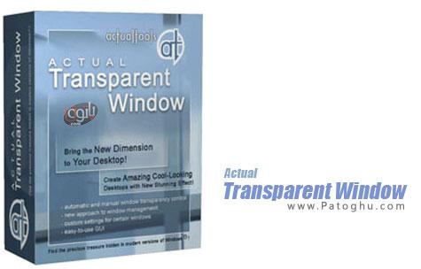 دانلود نرم افزار مدیریت پنجره های در حال اجرای ویندوز Actual Transparent Window 8.1.1