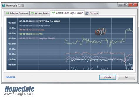 دانلود نرم افزار مانیتورینگ شبکه های بی سیم Homedale 1.41
