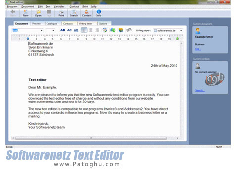 دانلود نرم افزار ویرایشگر متن قدرتمند Softwarenetz Text Editor 1.18
