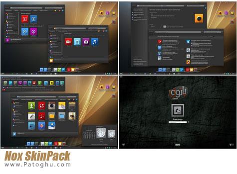 دانلود تم مشکی و بسیار زیبا برای ویندوز 7, 8 و 8.1 با Nox SkinPack For Windows