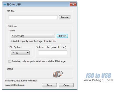 دانلود نرم افزار کپی کردن فایل های ایمیج ( ISO ) روی فلش و ساخت فلش های بوتیبل ISO to USB 1.3 Final