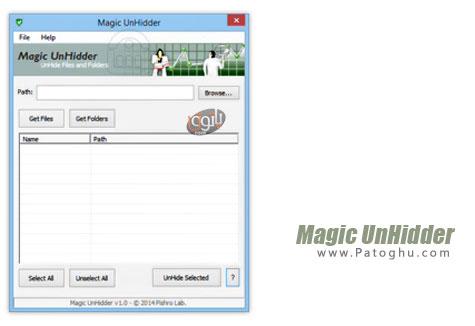 دانلود نرم افزار بازیابی فایل های مخفی شده توسط ویروس ها Magic UnHidder v1.0