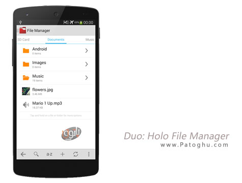فایل منیجر قوی برای اندروید Duo: Holo File Manager Pro v1.0