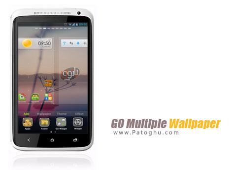 تغییر اتوماتیک پس زمینه آندروید با نرم افزار GO Multiple Wallpaper 1.3 Android