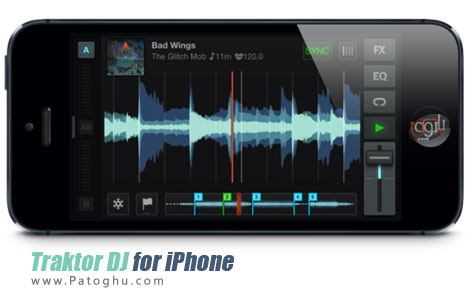 دانلود نرم افزار ساخت میکس زیبا از صداها برای آیفون - Traktor DJ for iPhone 1.0