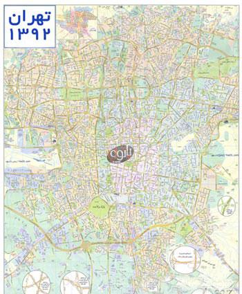 دانلود نقشه تهران 92
