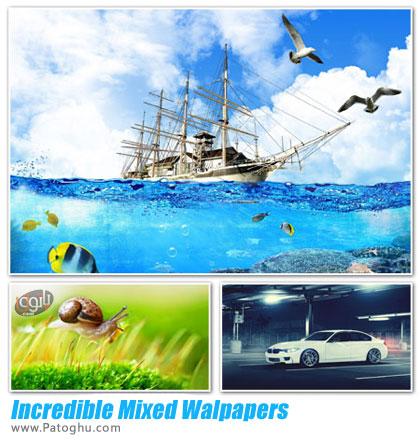 دانلود مجموعه 100 پس زمینه دسکتاپ با کیفیت HD و متنوع - Incredible Mixed Walpapers