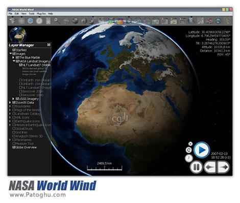 مشاهده ماهواره ای نقاط مختلف دنیا با نرم افزار NASA World Wind 1.4.0