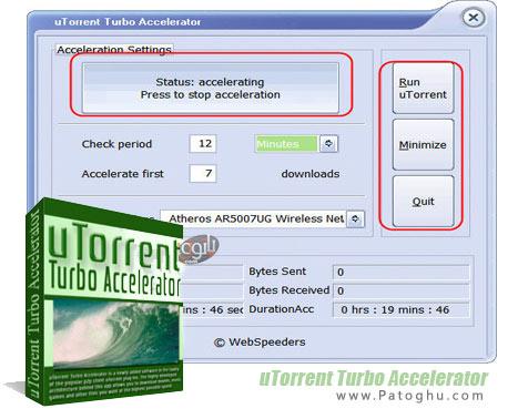 دانلود نرم افزار مدیریت و افزایش سرعت دانلود از تورنت uTorrent Turbo Accelerator 3.0 Final