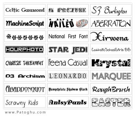 دانلود مجموعه فونت های گرافیکی و زیبا انگلیسی - Best Sidoka Fonts Pack Collection