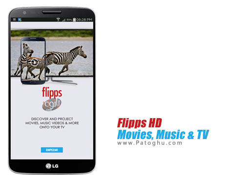 پخش فیلم و عکس های روی گوشی اندروید روی تلویزیون شما Flipps HD v5.6.7