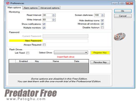 قفل کردن ویندوز از طریق فلش دیسک Predator Free / Pro 3.1.1.223 Final