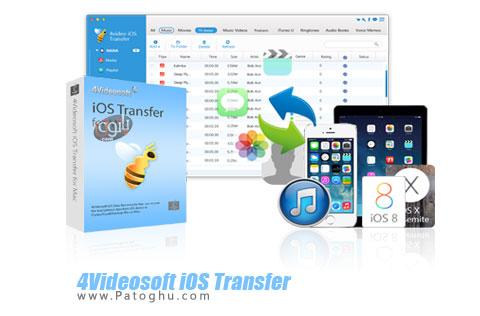 انتقال فایل از کامپیوتر به آیفون و بلکعس 4Videosoft iOS Transfer 8.1.16